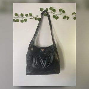 𝐕a𝐥𝐞𝐧𝐭𝐢𝐧𝐨 Women's  Leather Black Satchel
